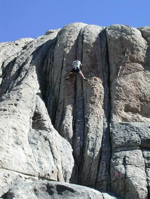 Me soloing a fun 5.8+ on the...