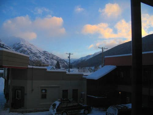 Sunrise over Silverton