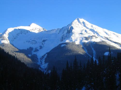 Kendall Mountain and Hazelton Mountain, Silverton, CO