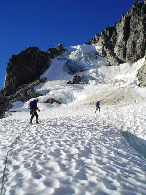 approaching the ice ramp