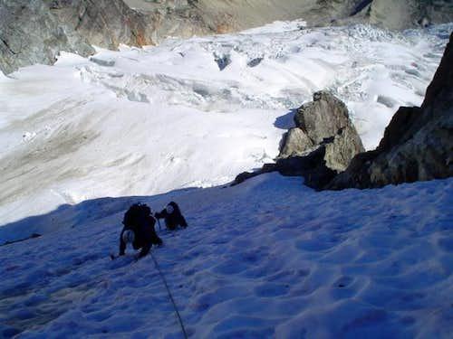 simulclimbing the ice ramp