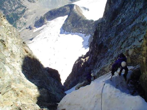 topping out the couloir