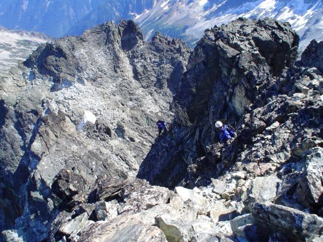 scramble to the summit