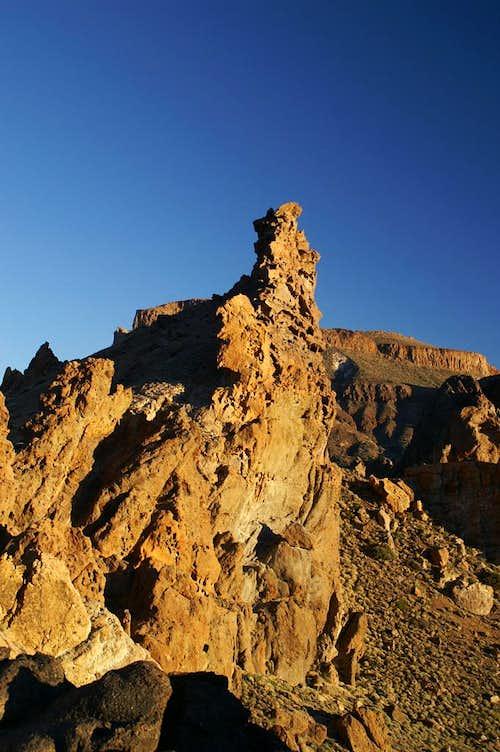 Los Roques de Garcia during sunset