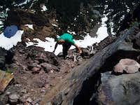Me descending from Mt Washington