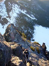 Rappin off Mt Thielsen