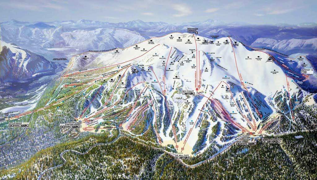 Mammoth Mountain Ski Map
