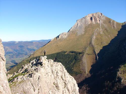 SW face of Txindoki