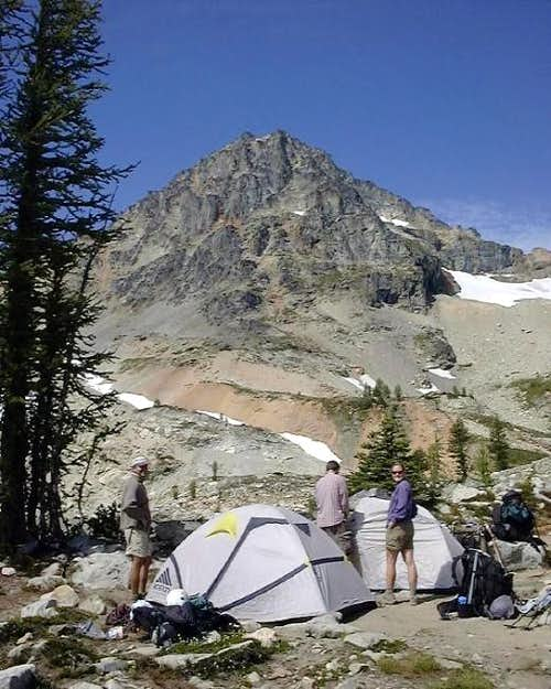 Our high camp at the lake...