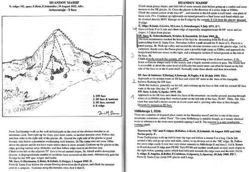 Artesonraju - Routes: Text...