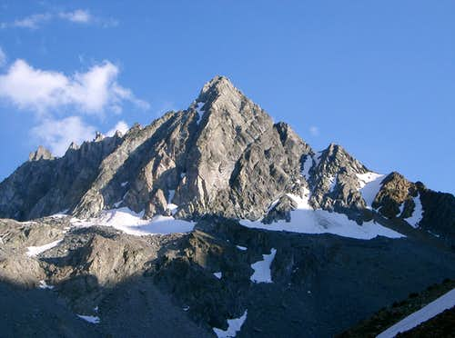 Horse Creek Peak Basking in the Rays of the Evening Sun