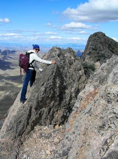 On Moapa Peak Ridge