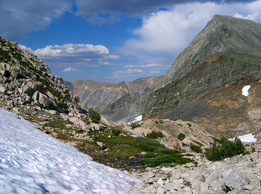 Descending to Horse Creek Pass