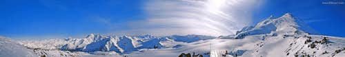 Caucasus - Elbrus slope - 360 degrees Panorama