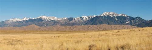 panoramic view of great sand dunes
