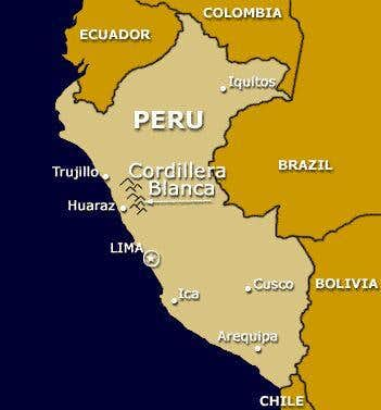 Map: Overview of Peru with...