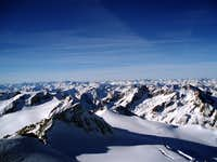 View from Ötztaler Wildspitze