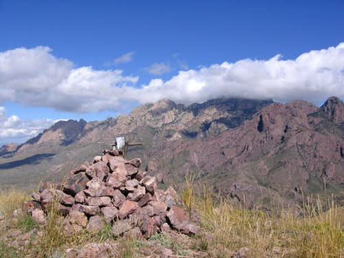Squaw Mtn summit cairn