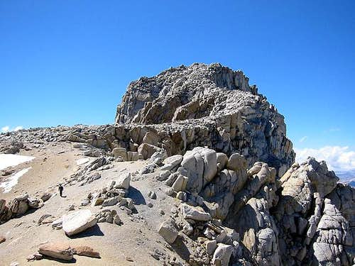Approaching the summit of Mt...