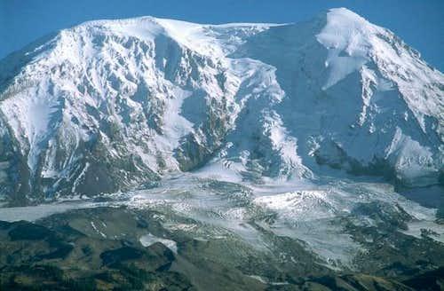 The Adams Glacier tumbles...