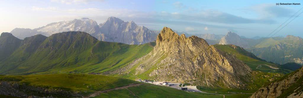Panoramic view to Marmolada