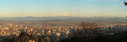 Portland Skyline Panorama