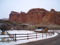 Fruita barn in winter