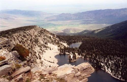 Independence Lakes from the...