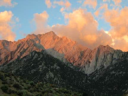 Lone Pine Peak the morning...