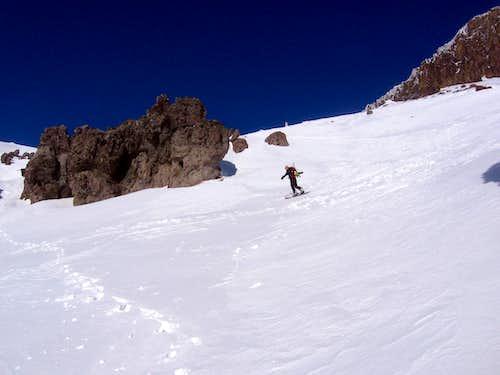 sliding down castle peak