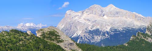 Panoramic view to Marmolada and Tofana