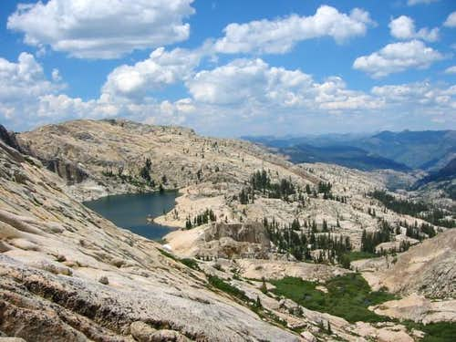 Middle Lewis Lake (left) and...