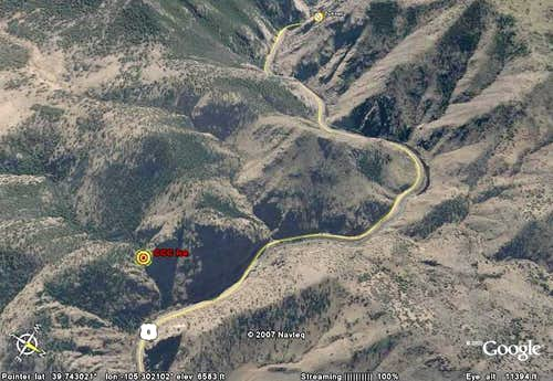 Clear Creek Canyon Ice Google Earth