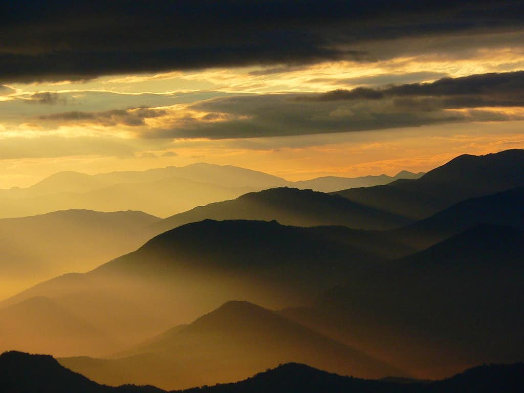 Golden Morning in the Central Macedonian Mountains