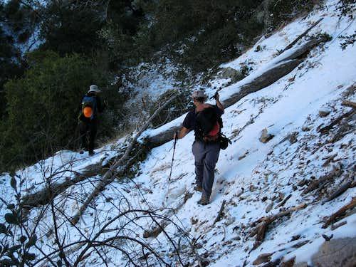 Snowy Traverse to Allison Mine, San Gabriel Mountains