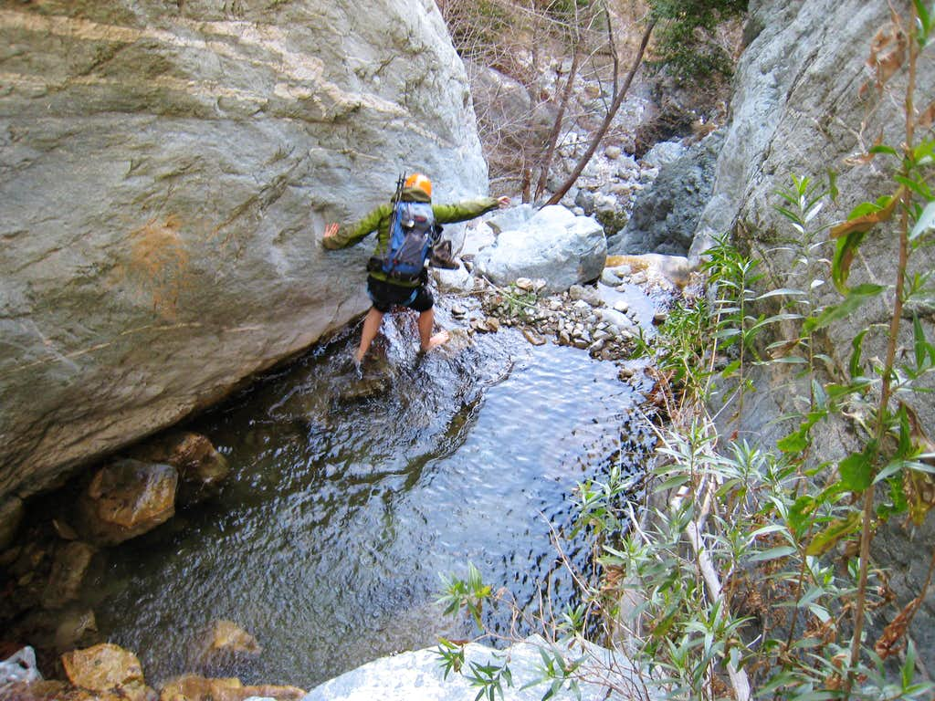 Ice Cold Barefoot Walk to Rappel Point