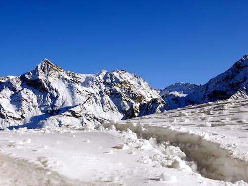 The Becca di Luseney (3504 m),