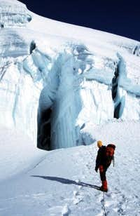 And yes, there are crevasses...