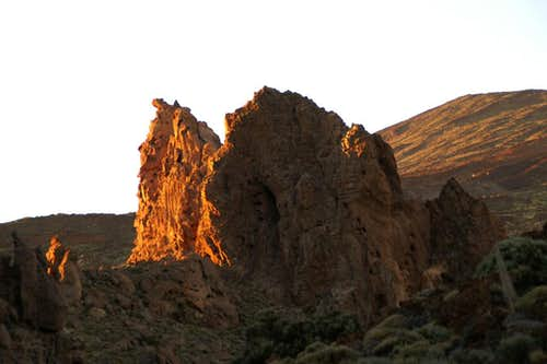 Sunset among the Roques de Garcia