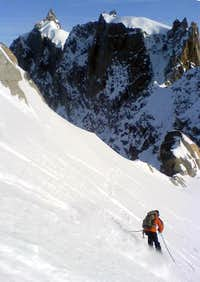Skiing Down to the Summit