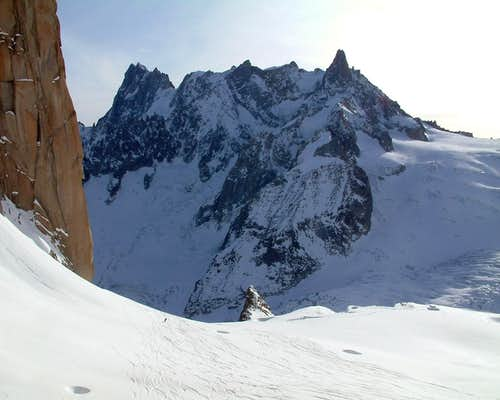 Grands Jorasses from Envers du Plan