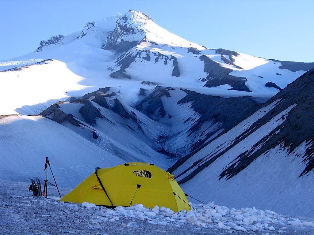 Campsite, below White River Glacier, Mt. Hood