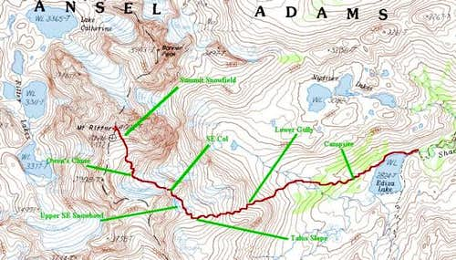 Map of Clyde Variation Route...