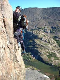 Mark Sokol free soloing the...