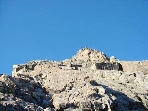 Looking up the Inwwod Arete,...