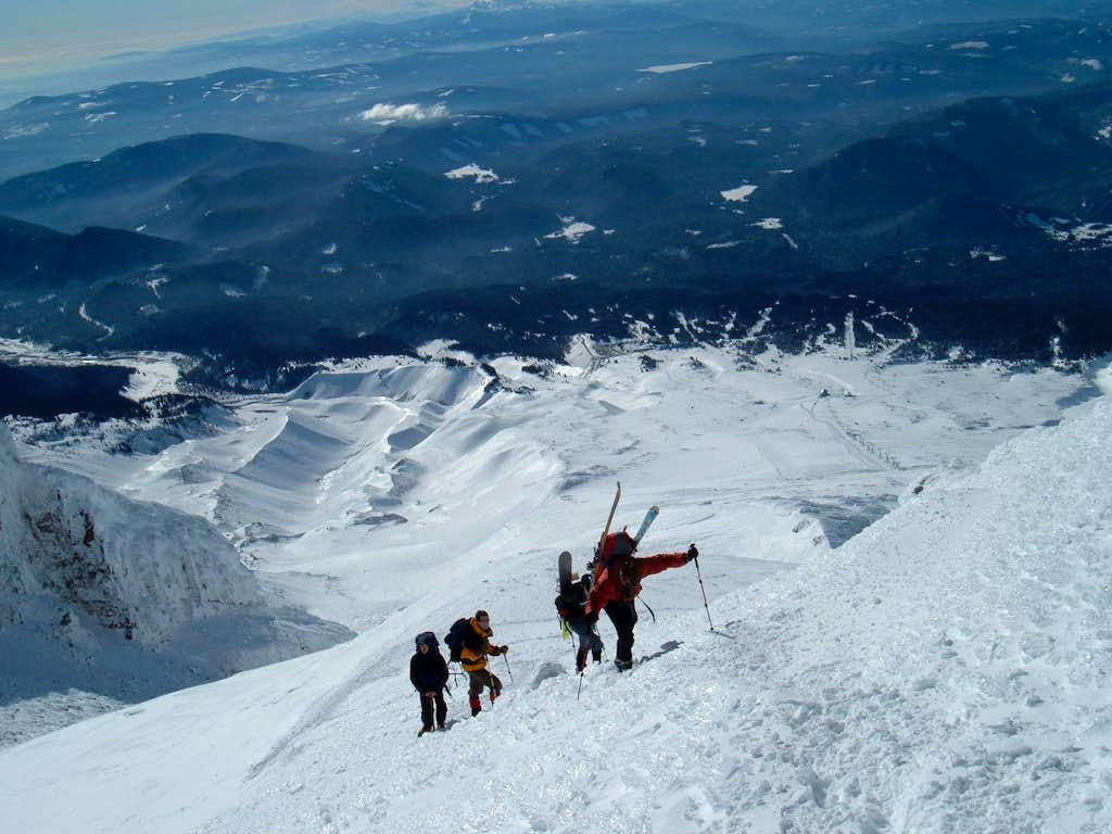 Duseks and crew almost at the Hogsback Ridge