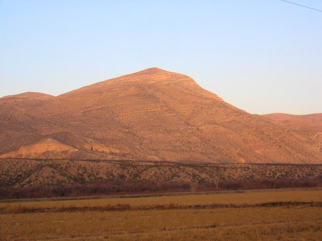 Robledo Mtn from east