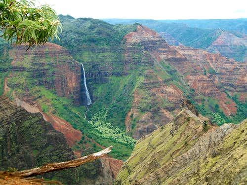 <b>Waterfall</b> in the <b>Waimea Canyon</b>