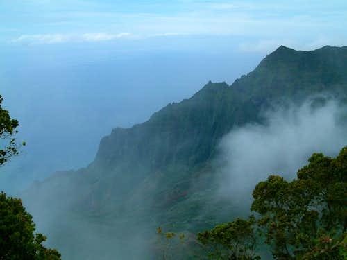 Misty <b>Na Pali</b> coast