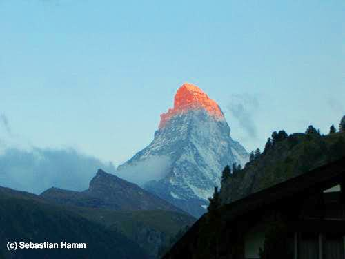 Matterhorn touched by the first rays of the sun